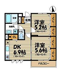 鎌倉ガーデン弐番館[3階]の間取り