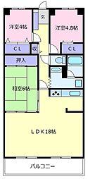 朝日プラザ松原III棟[2階]の間取り