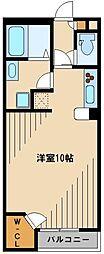 JR八高線 毛呂駅 徒歩12分の賃貸アパート 1階ワンルームの間取り