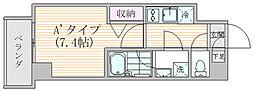エスジーコート元浅草 3階1Kの間取り