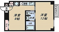 ブランカ堺東[10階]の間取り