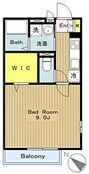 神奈川県相模原市中央区清新1丁目の賃貸アパートの間取り