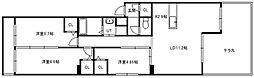 北海道札幌市中央区南九条西15丁目の賃貸マンションの間取り