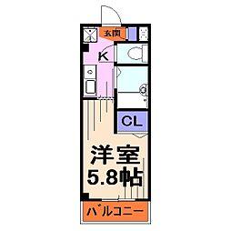 埼玉県川口市並木3-の賃貸マンションの間取り