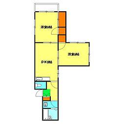 ワコーサンハイム[2階]の間取り