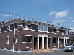 栃木県さくら市櫻野の賃貸アパートの外観