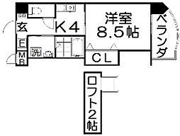 プレッソ津田駅前[6階]の間取り