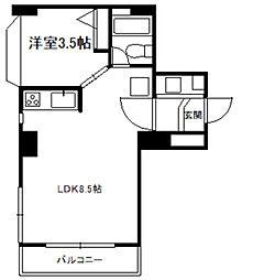 中島公園マンション[5階]の間取り