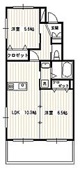 ルソレイユ[2階]の間取り