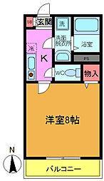 千葉県船橋市宮本6の賃貸アパートの間取り