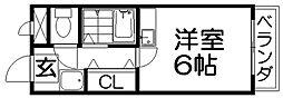 ツインビル B棟[2階]の間取り