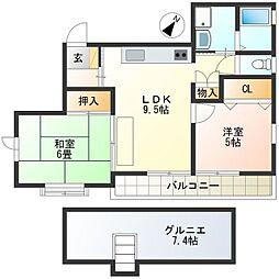 マメゾンポミエ[2階]の間取り