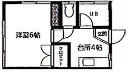 コーポ東大和田[103号室]の間取り