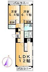 SKK本町マンション[402号室]の間取り