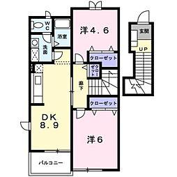 シースカイB[2階]の間取り