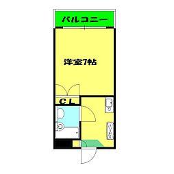プロムナード三ッ沢[302号室]の間取り