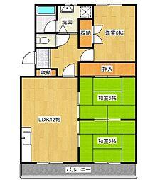 愛知県豊田市金谷町5丁目の賃貸マンションの間取り