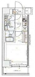 京急本線 神奈川駅 徒歩9分の賃貸マンション 3階1Kの間取り