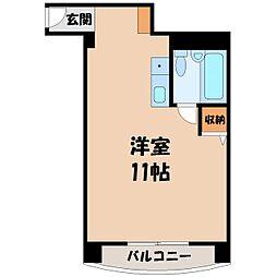 栃木県宇都宮市西大寛2丁目の賃貸マンションの間取り