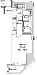 クレセント虎ノ門新橋 4階1Kの間取り