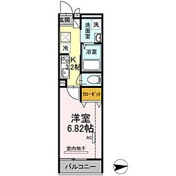 東武伊勢崎線 谷塚駅 徒歩25分の賃貸アパート 1階1Kの間取り