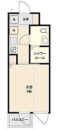 小田急小田原線 下北沢駅 徒歩4分の賃貸マンション 2階1Kの間取り