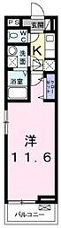 相鉄いずみ野線 弥生台駅 徒歩9分の賃貸アパート 2階1Kの間取り