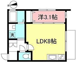 Luana鶴ヶ峰 1階1LDKの間取り