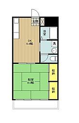 東京都青梅市河辺町3丁目の賃貸マンションの間取り