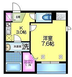 (仮称)浅草3丁目メゾン 3階1Kの間取り