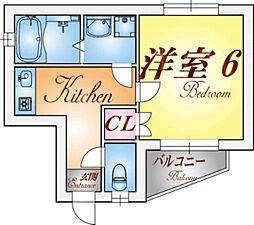 荒田ハウス[1階]の間取り