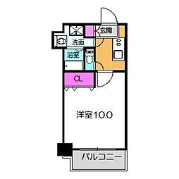 Osaka Metro御堂筋線 なかもず駅 徒歩3分の賃貸マンション 4階1Kの間取り