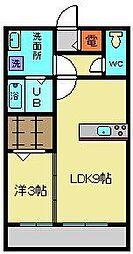 ハイツ943 B棟(1LDK)B棟[302号室]の間取り
