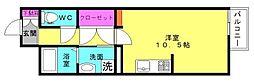 WITH ROSE AKASHI[1C号室]の間取り