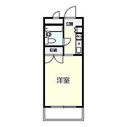 神奈川県横浜市戸塚区平戸3丁目の賃貸マンションの間取り