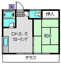 日の出荘[1階]の間取り