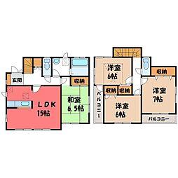 [一戸建] 栃木県宇都宮市西原町 の賃貸【/】の間取り