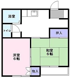 千葉県鎌ケ谷市南初富2丁目の賃貸アパートの間取り