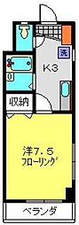 オークランドYK[305号室]の間取り