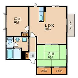 マザーレイク1[1階]の間取り