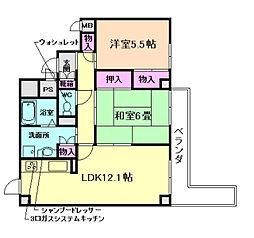 メゾン宝塚山本[517号室]の間取り
