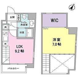 アリエルズ赤坂 9階1LDKの間取り