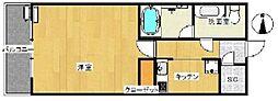 コンシェリア西新宿タワーズウエスト 13階1Kの間取り