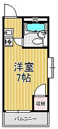 サニーハイム小若江[3階]の間取り