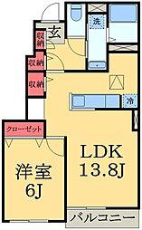 千葉県千葉市緑区椎名崎町の賃貸アパートの間取り