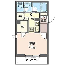 仮)新松戸3丁目シャーメゾン 1階1Kの間取り
