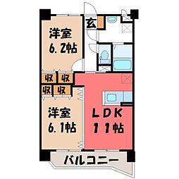 栃木県宇都宮市石井町の賃貸マンションの間取り