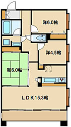京王線 飛田給駅 徒歩8分の賃貸マンション 7階3LDKの間取り