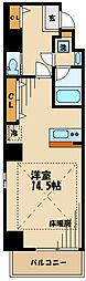 フェリーチェ豊田 8階ワンルームの間取り