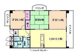 ラ・ヴェール外院[1階]の間取り